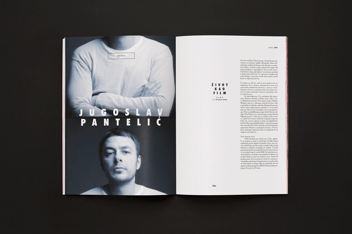 magazine,Zine ,typographic,black,red,bold,spreads,funzine,fanzin,AHA,Futura