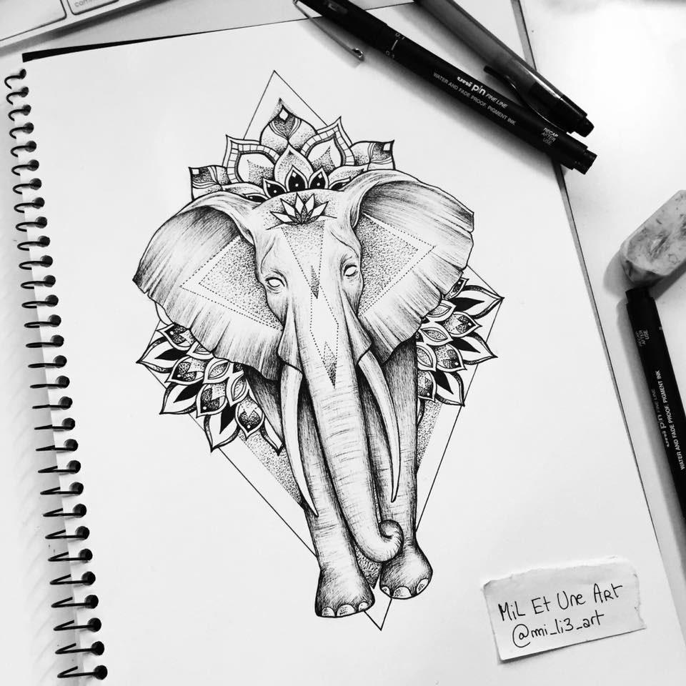 Elephant Mandala Tattoo Commission On Behance