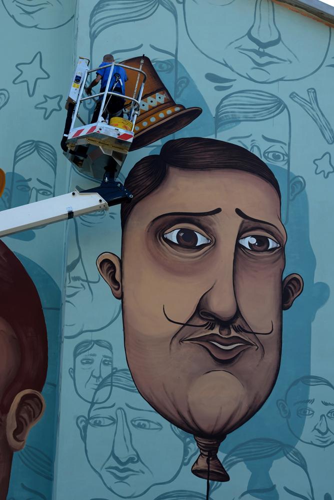 streetart muralart wall paint Urban Urbanart