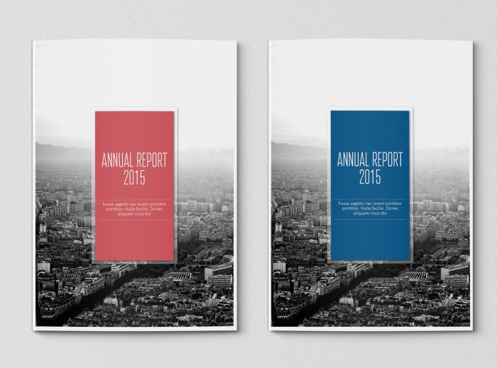 simple annual report template on behance