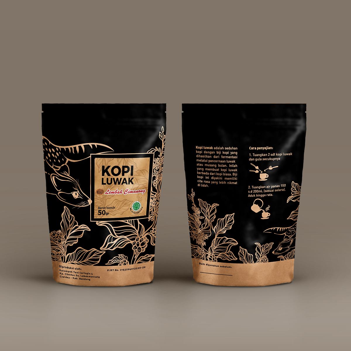 Luwak Life After Coffee Kopi Packaging Lembah Cimanong 250 Gram By