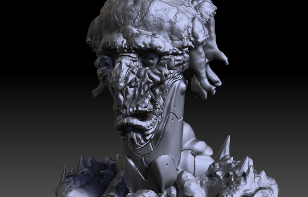 Zbrush 3D alien bust Space