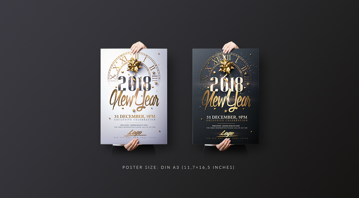 new year invitation pack on behance