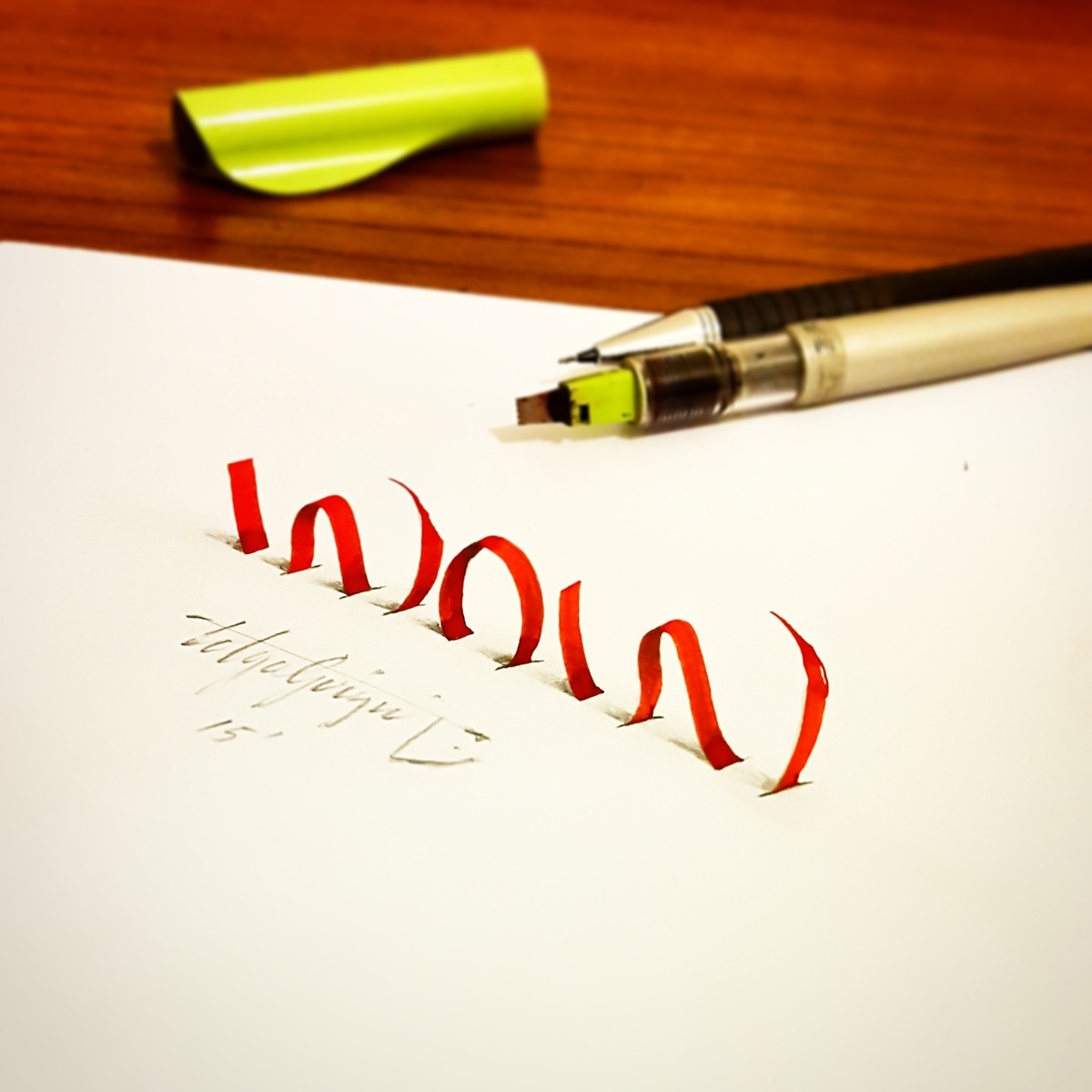 3d Lettering With Calligraphy Pens Pencil Part 5 On Behance