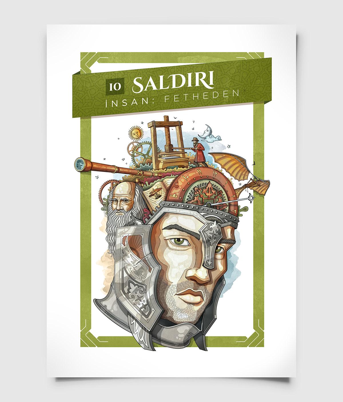CEZERİ müzesi sergi müze illustrasyon portre çizim Drawing  poster