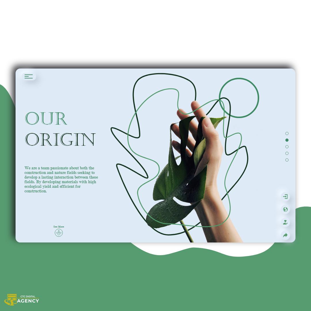 green landingpage neumorphism UI Webdesign Website