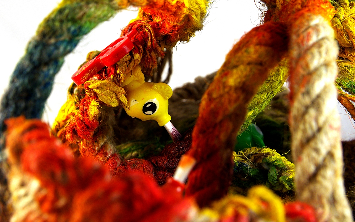 dreams come true a kinder world textile art textile miniature weaving netting readymade dreams