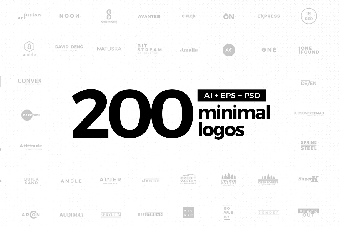 200 Minimal Logos Template On Behance