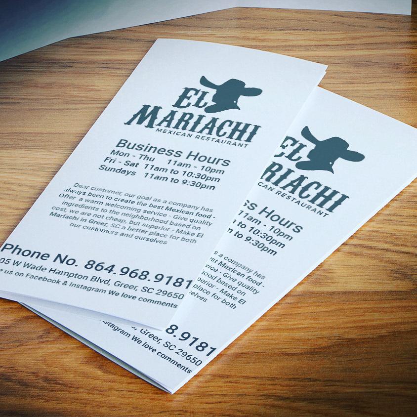 el mariachi togo menu on behance