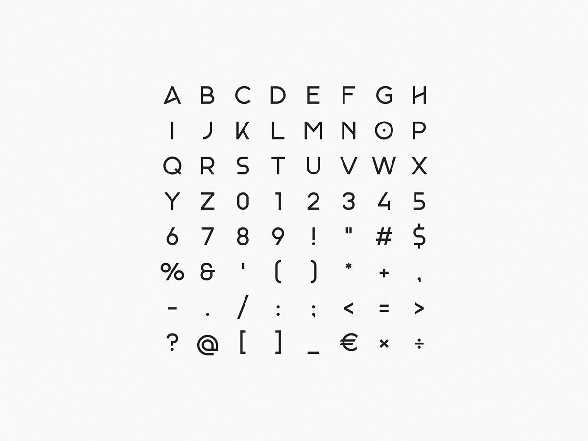 download elegant font Free font free typeface geometric minimal monad Typeface typography