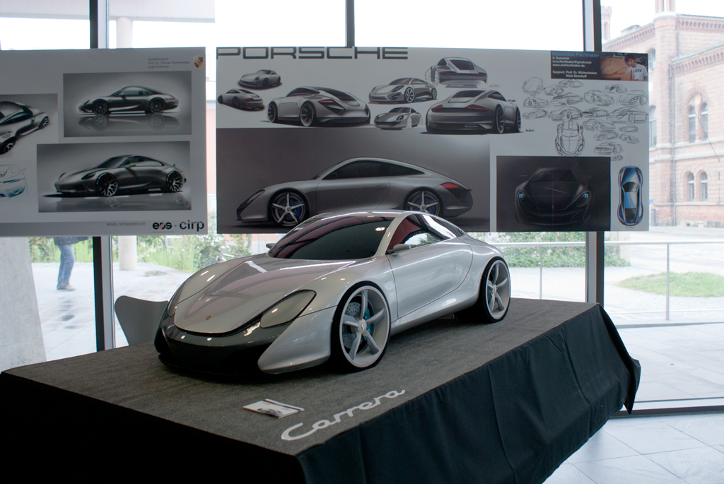 Porsche Transportation Design cardesign scale model modeling clay car sketch rendering