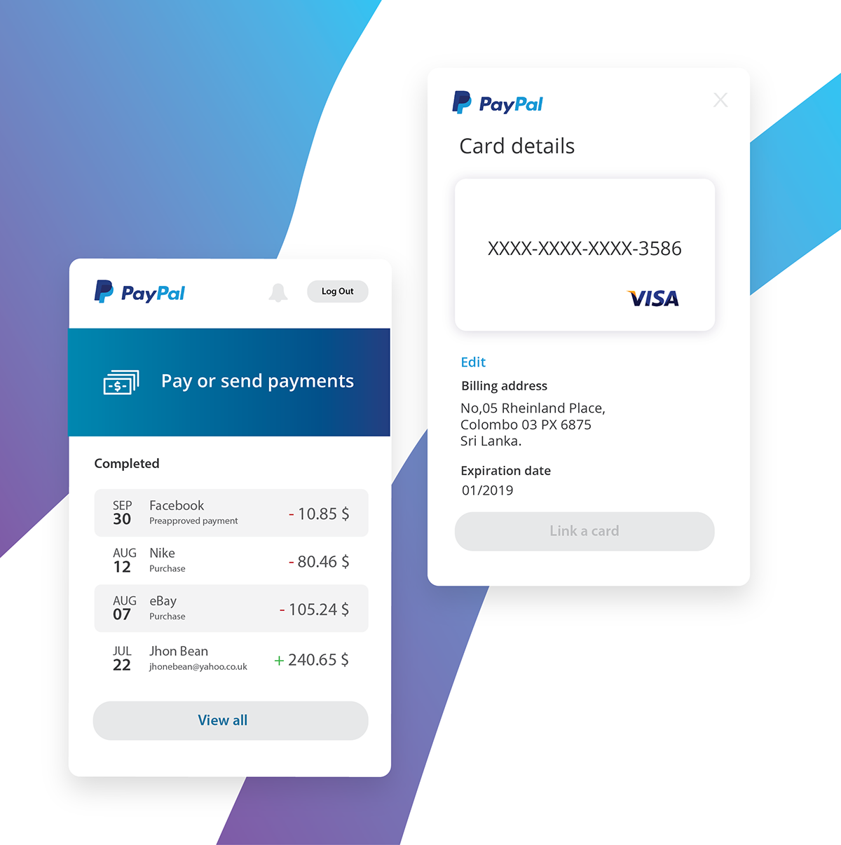 Paypal Mobile Ui Ux Redesign Concept Summary Wallet On Wacom Gallery