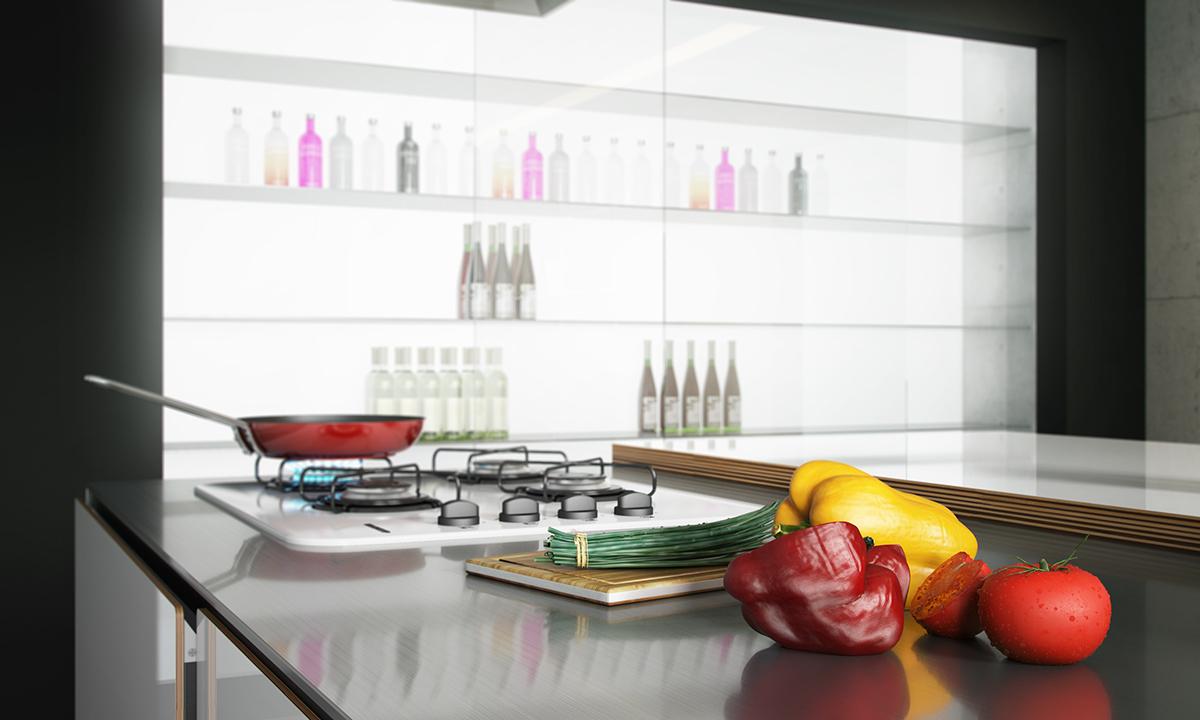 Interior design italian kitchen white kitchen ilustration art graficdesign 3D 3ds max vray archviz visualization 3D desgin furniture