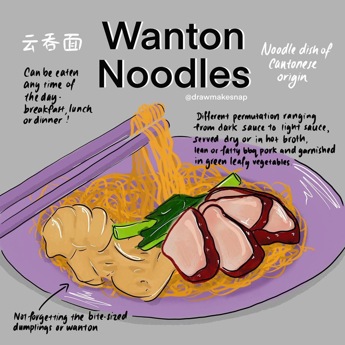 food illustrations Food  hawker food local food singapore