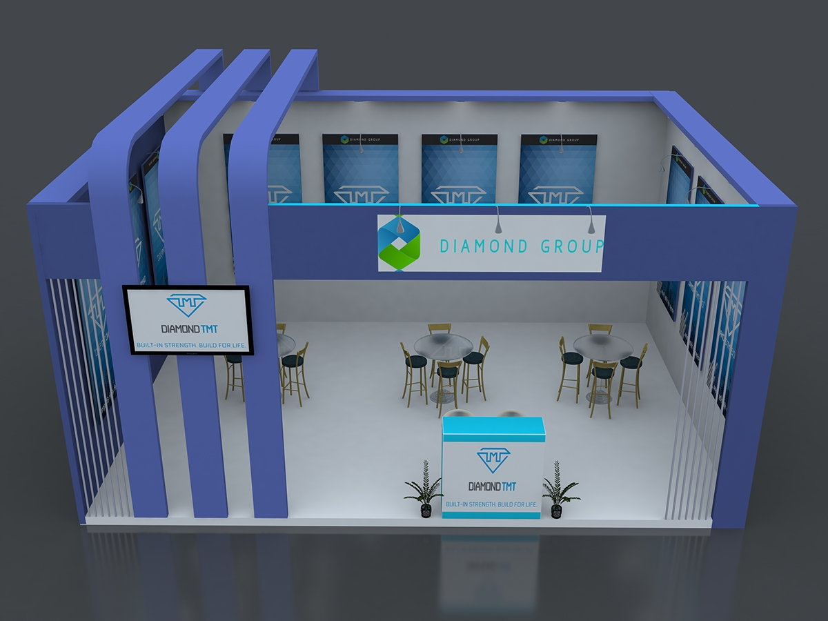3d Exhibition Stall Design : Exhibition d stall design on student show