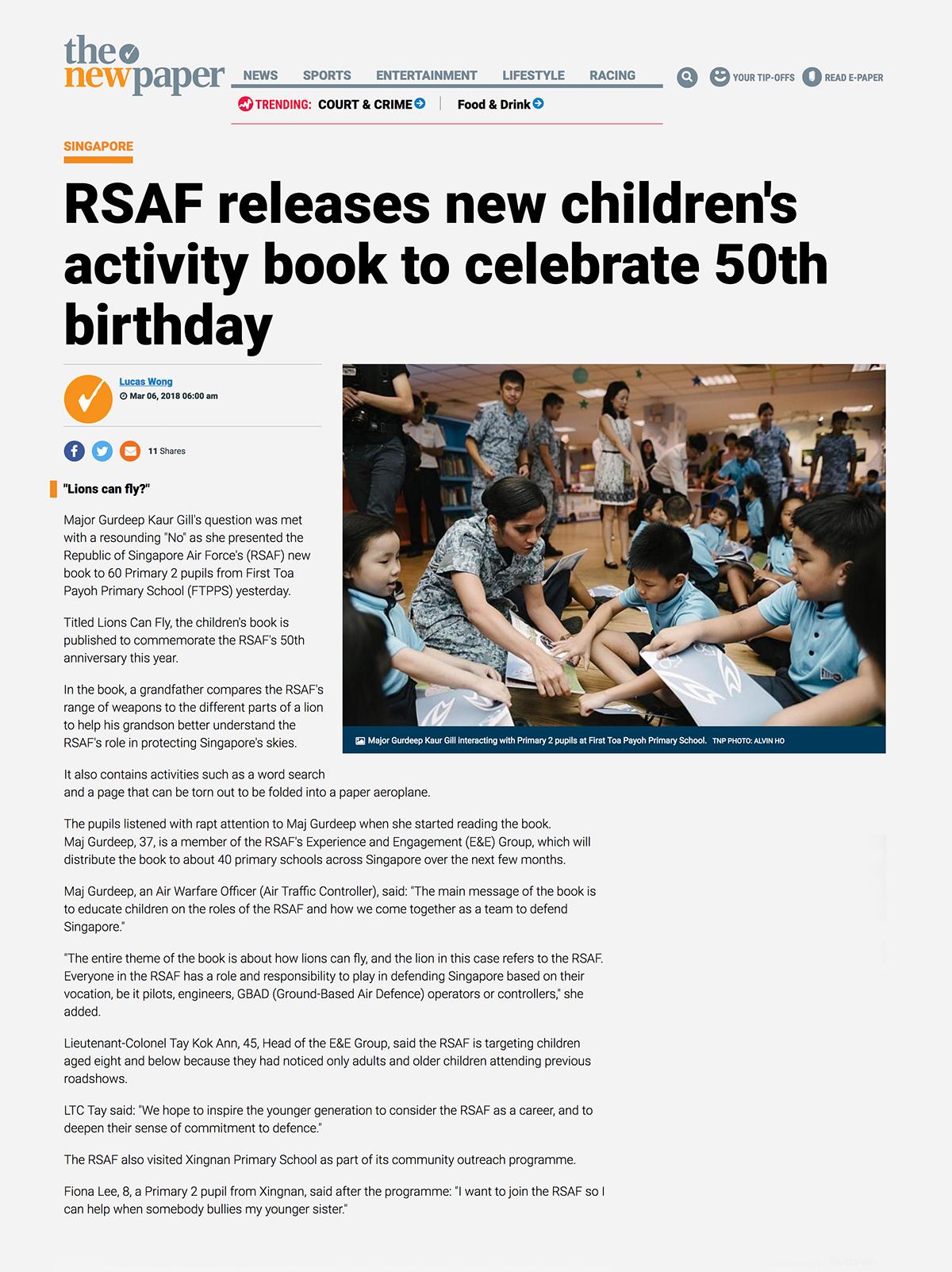 Republic of Singapore Airforce — Storybook on Behance