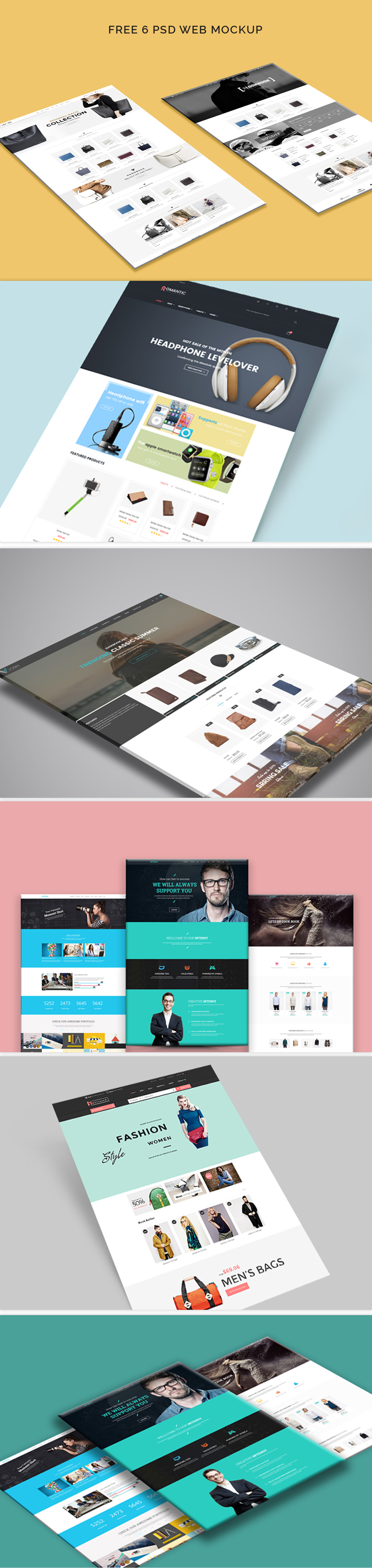 free web template mockup on behance