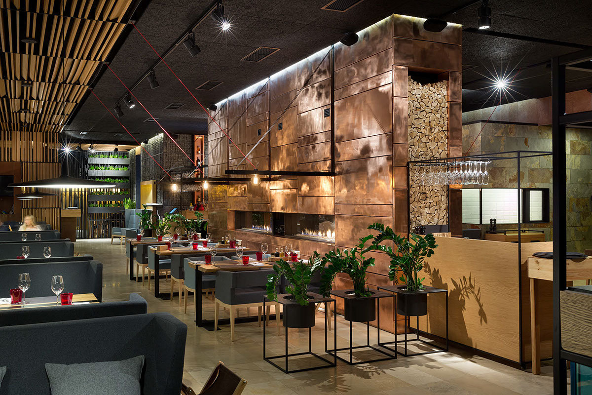 Food forest park restaurant on behance