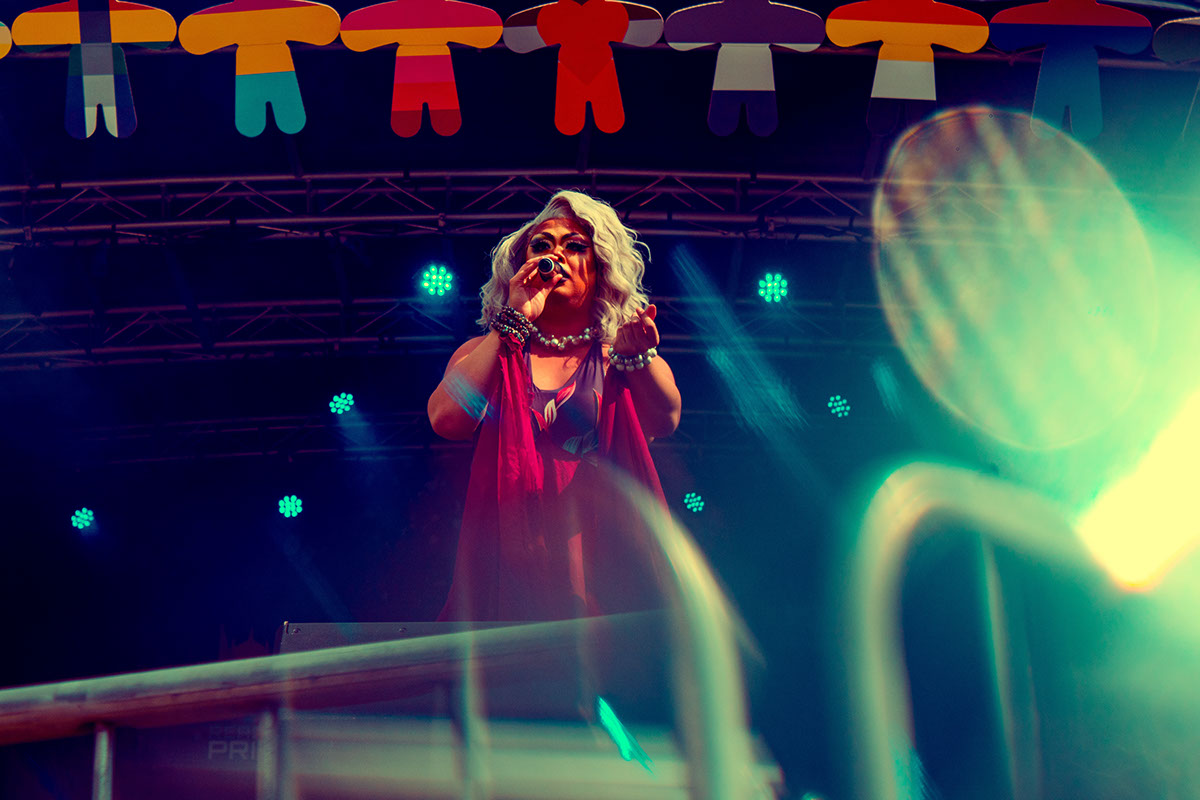 Adobe Portfolio concert gig music prism colour pride LGBT