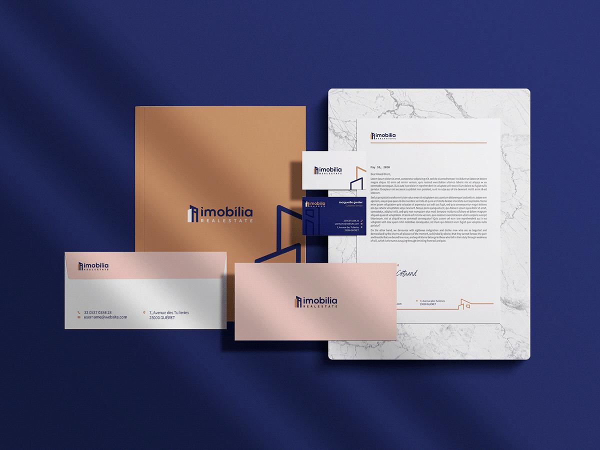 black blue brand branding  identity realestate