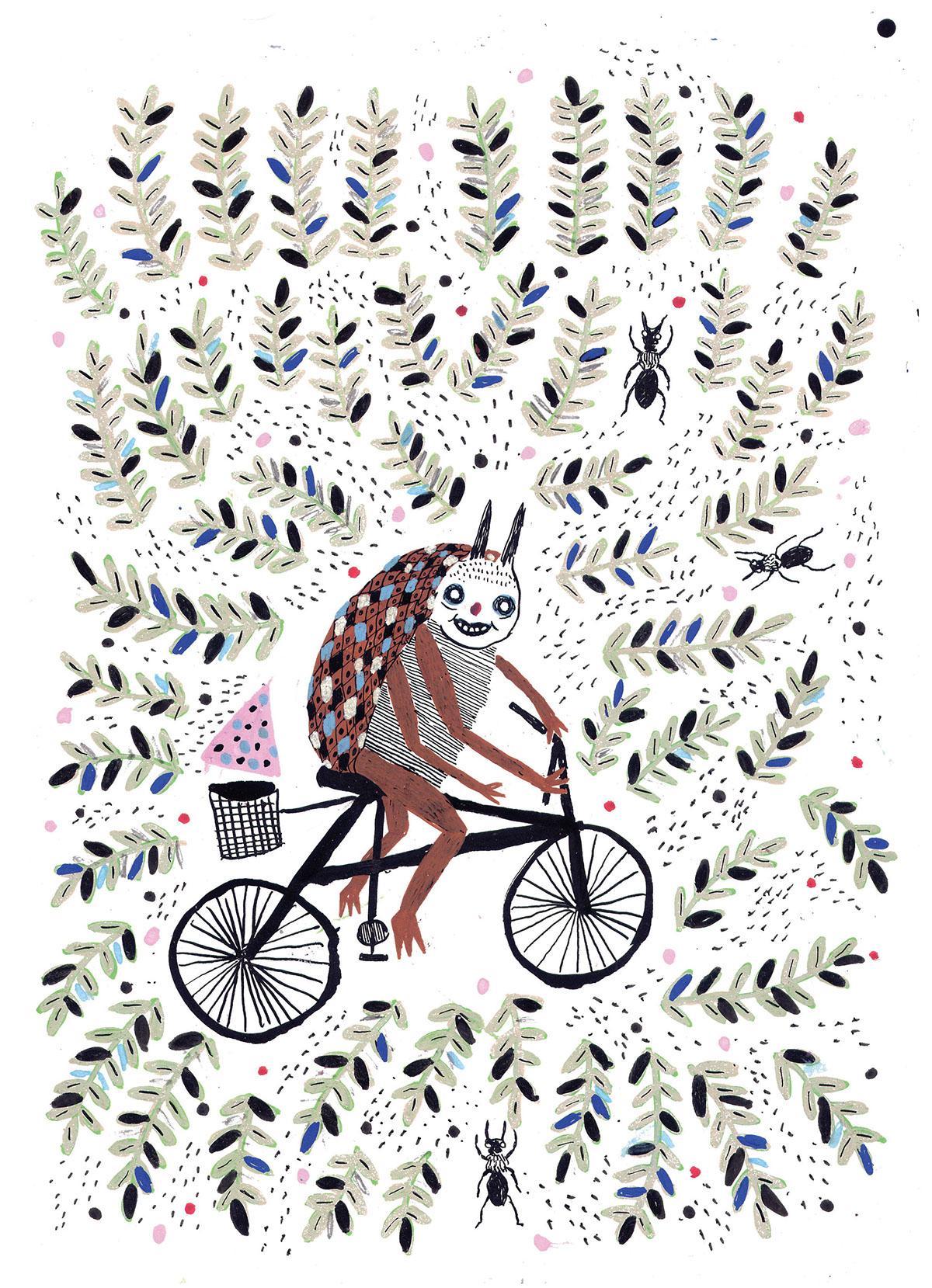 beetle bear Bike Bicycle t-shirt