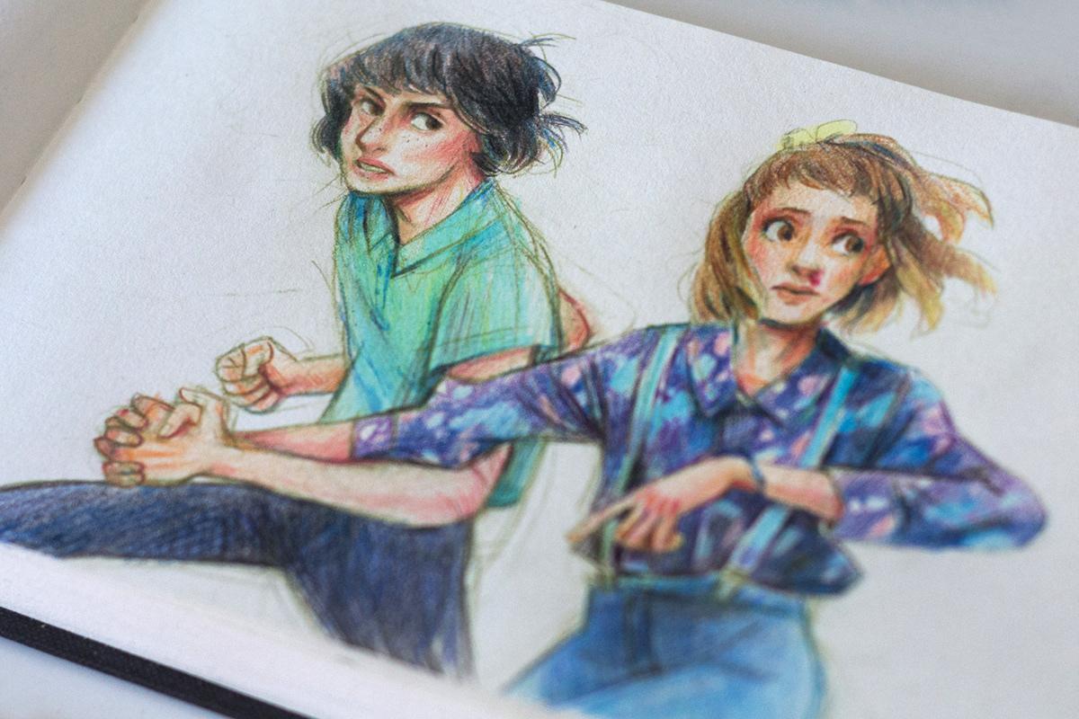 Stranger Things Leon Pencil Drawings On Behance