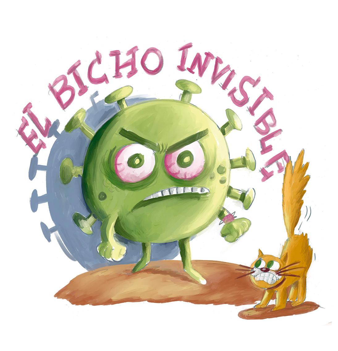el bicho invisible ilustracion literatura