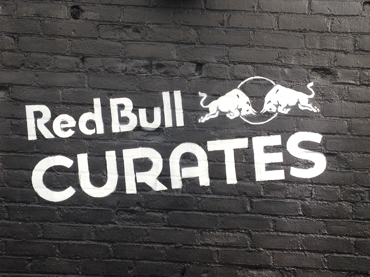 Red Bull Curates canvas cooler #canvascooler stencil on-field