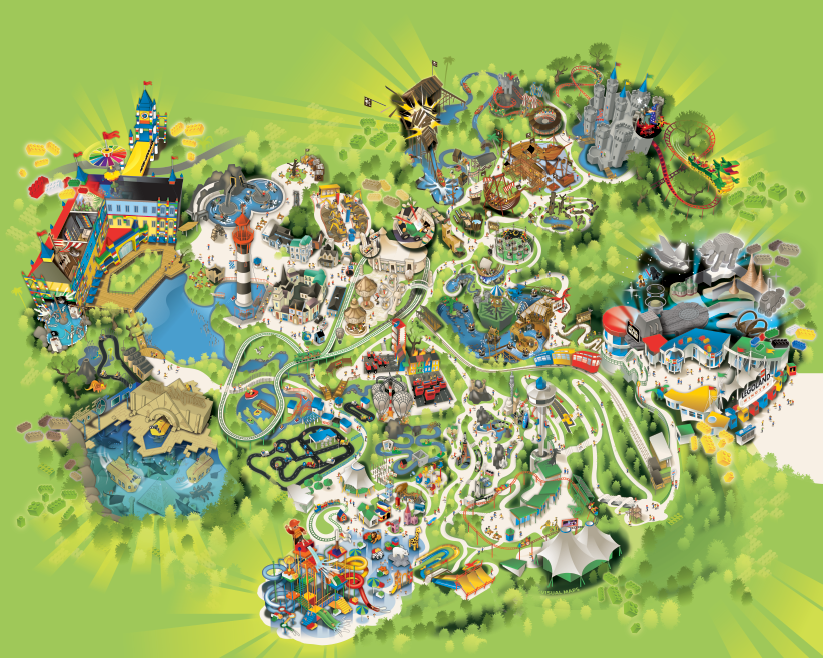Legoland Windsor Park Map On Behance - Windsor map