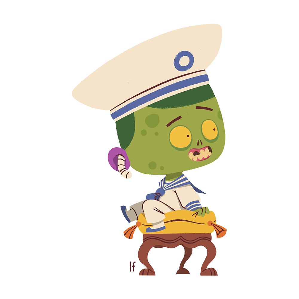 animation  brain cartoon Character characterdesign dead livingdead undead zombie