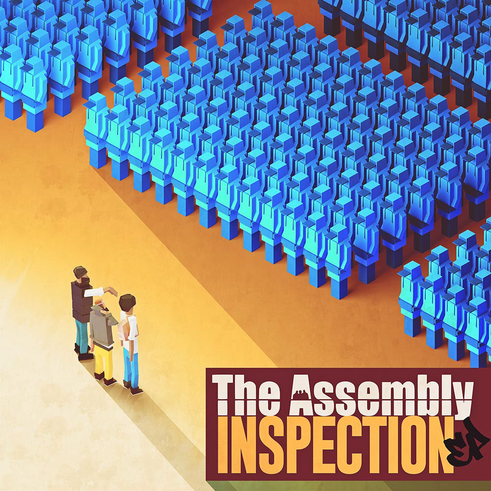 The Assembly clone army robots inspection 8bit Low Poly poly orthographic Album art
