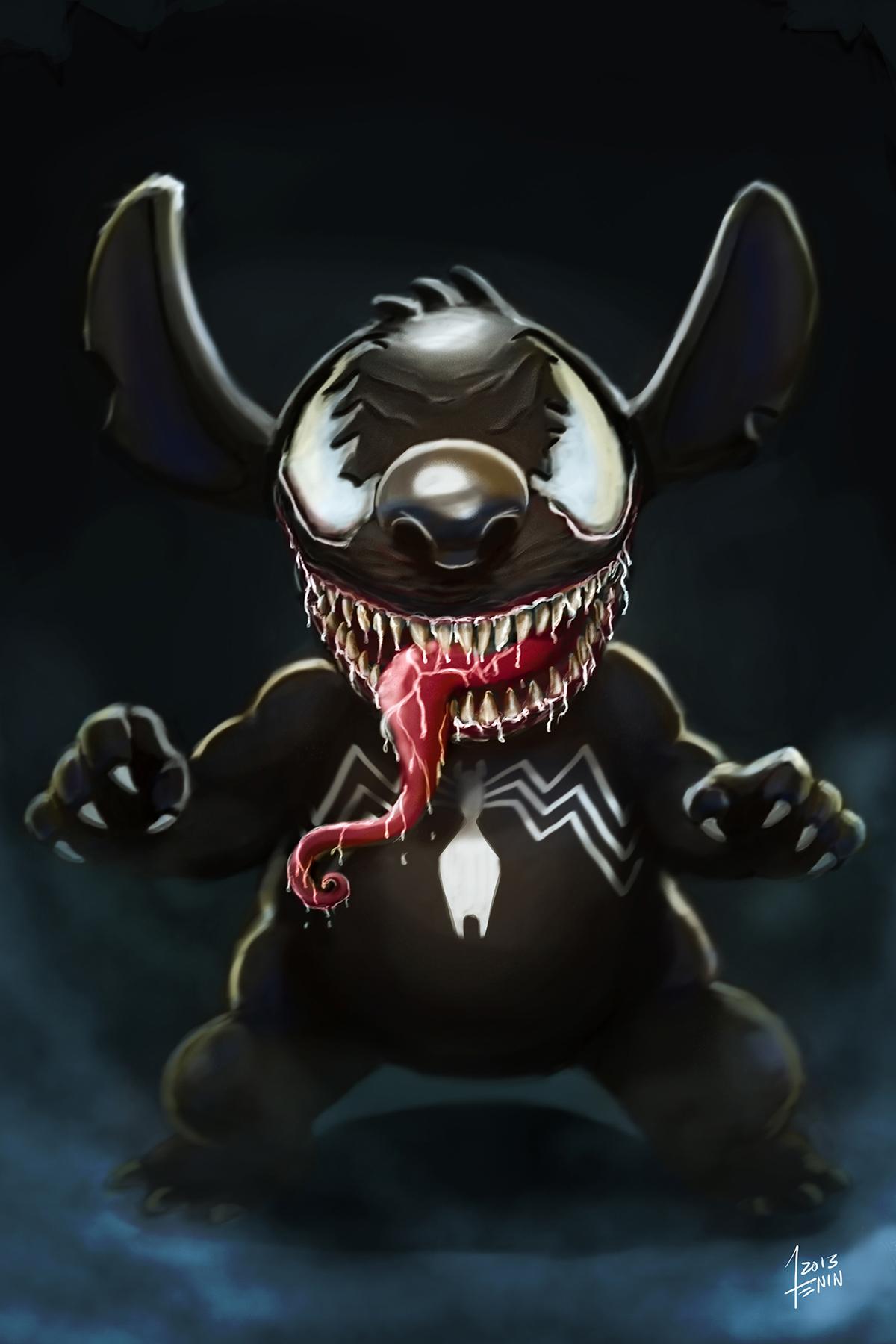 Venom Supreme, a Mashup of Superman and Venom.