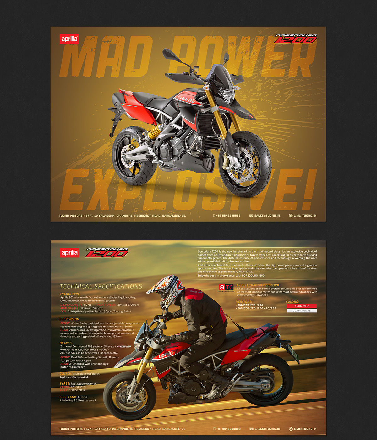 Logo Design flyers Aprilia motoguzzi