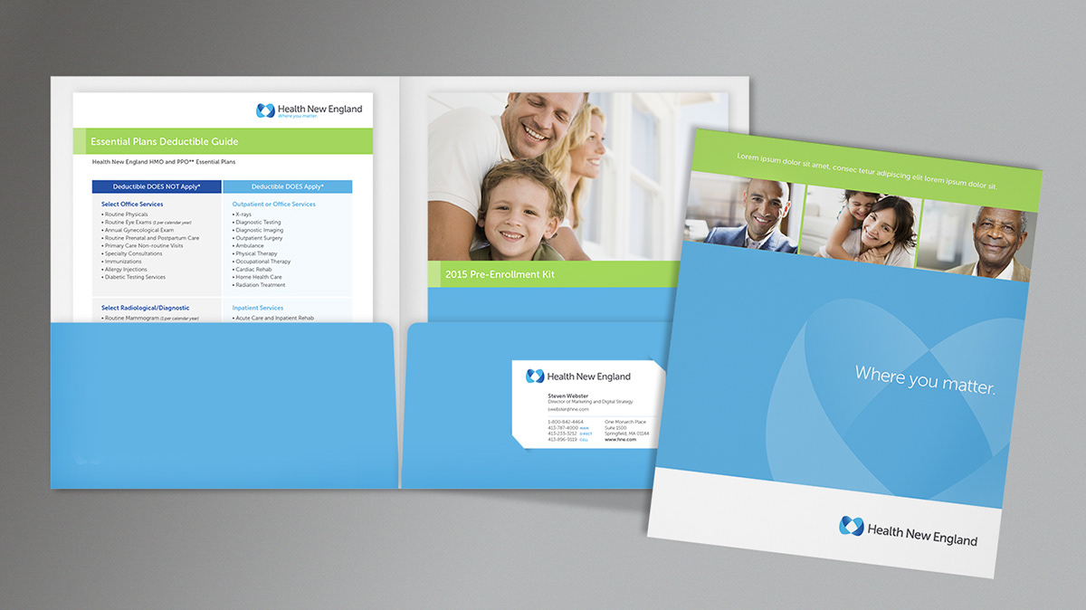brand guide brand guidelines branding  brochure Collateral Health identity medical New England