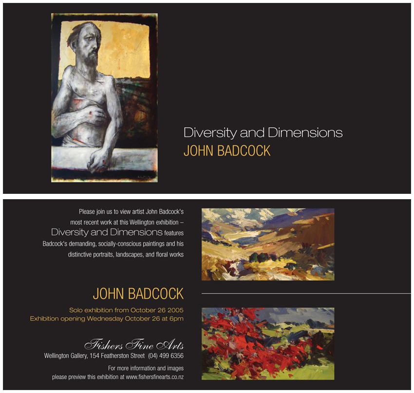 Bridget Hassall Various Art Exhibition Invitations