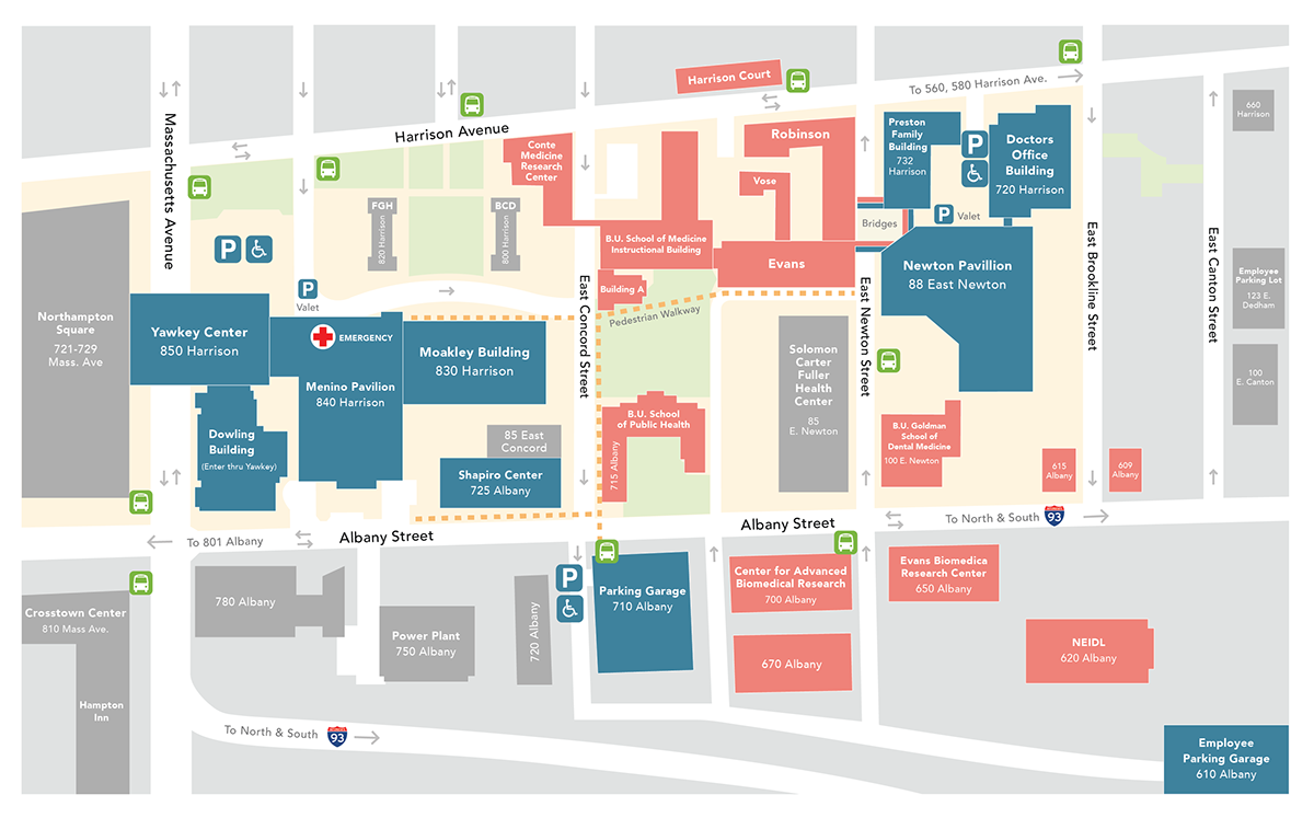 Boston Medical Center Campus Map Redesign on Behance