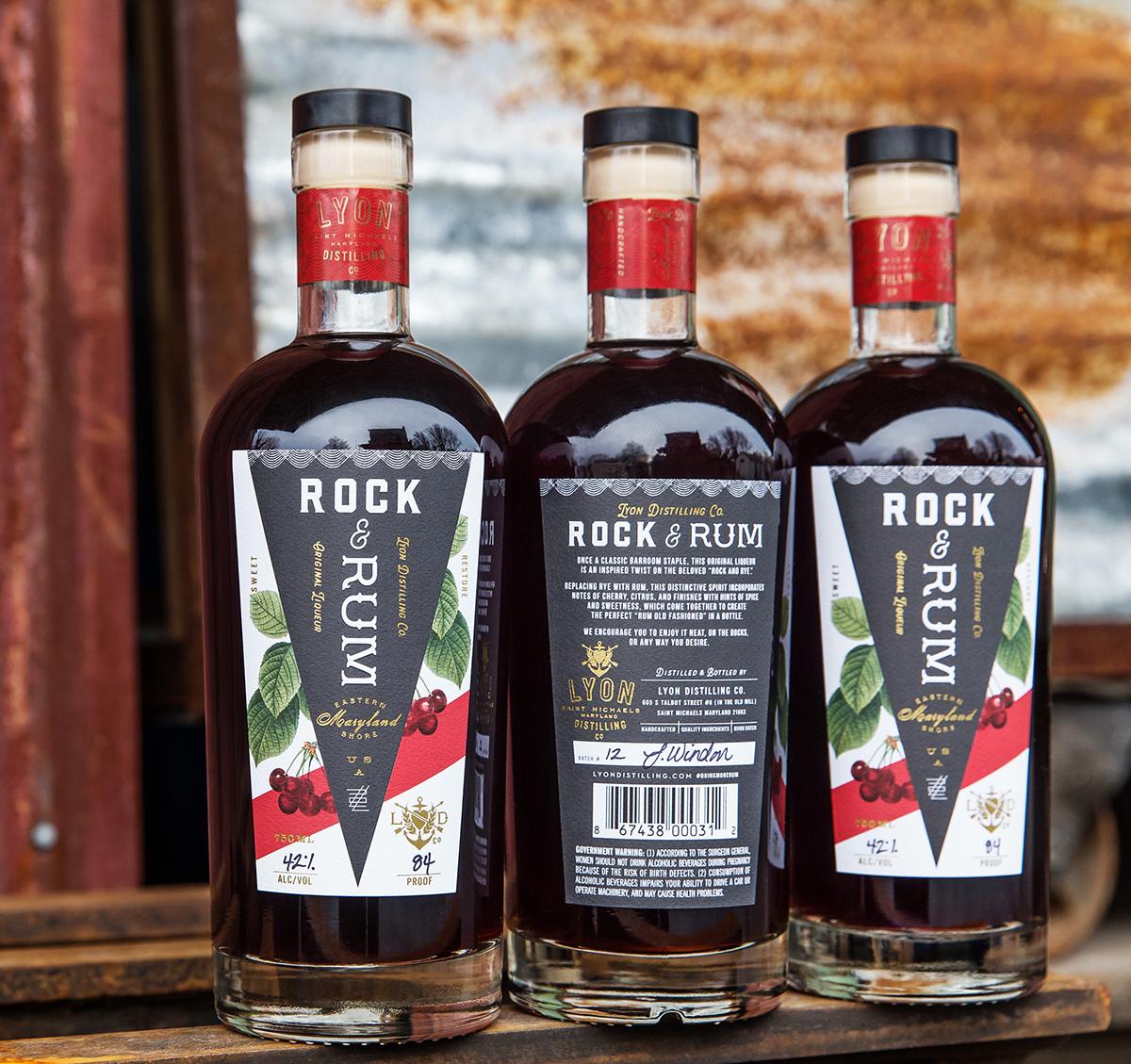 Rum Spirits liquor distilery logo bottle Label heart anchor arrows