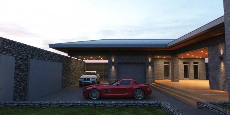 Вид на гараж
