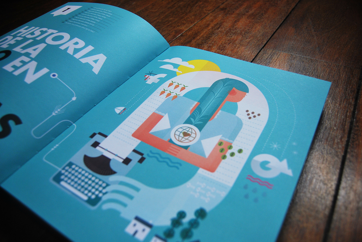 fao onu books editorial ilustracion delhambre Publications paper inspire editorial design  Editorial Illustration