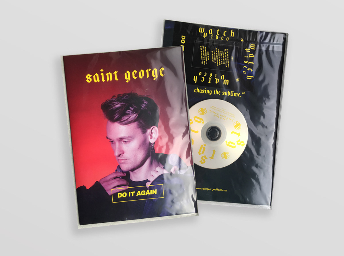 editorial presskit design logo branding  print package music pop art