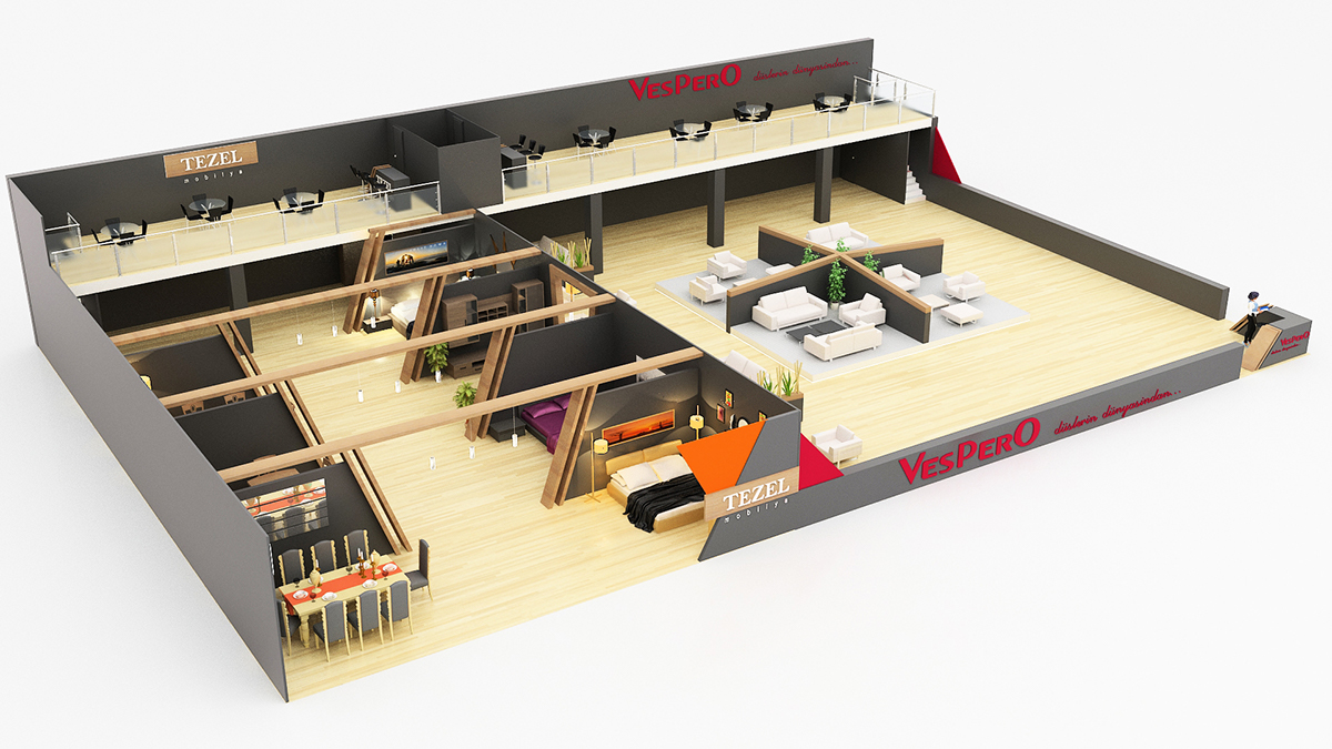 Exhibition Stand Design Furniture : Furniture exhibition stand design on behance