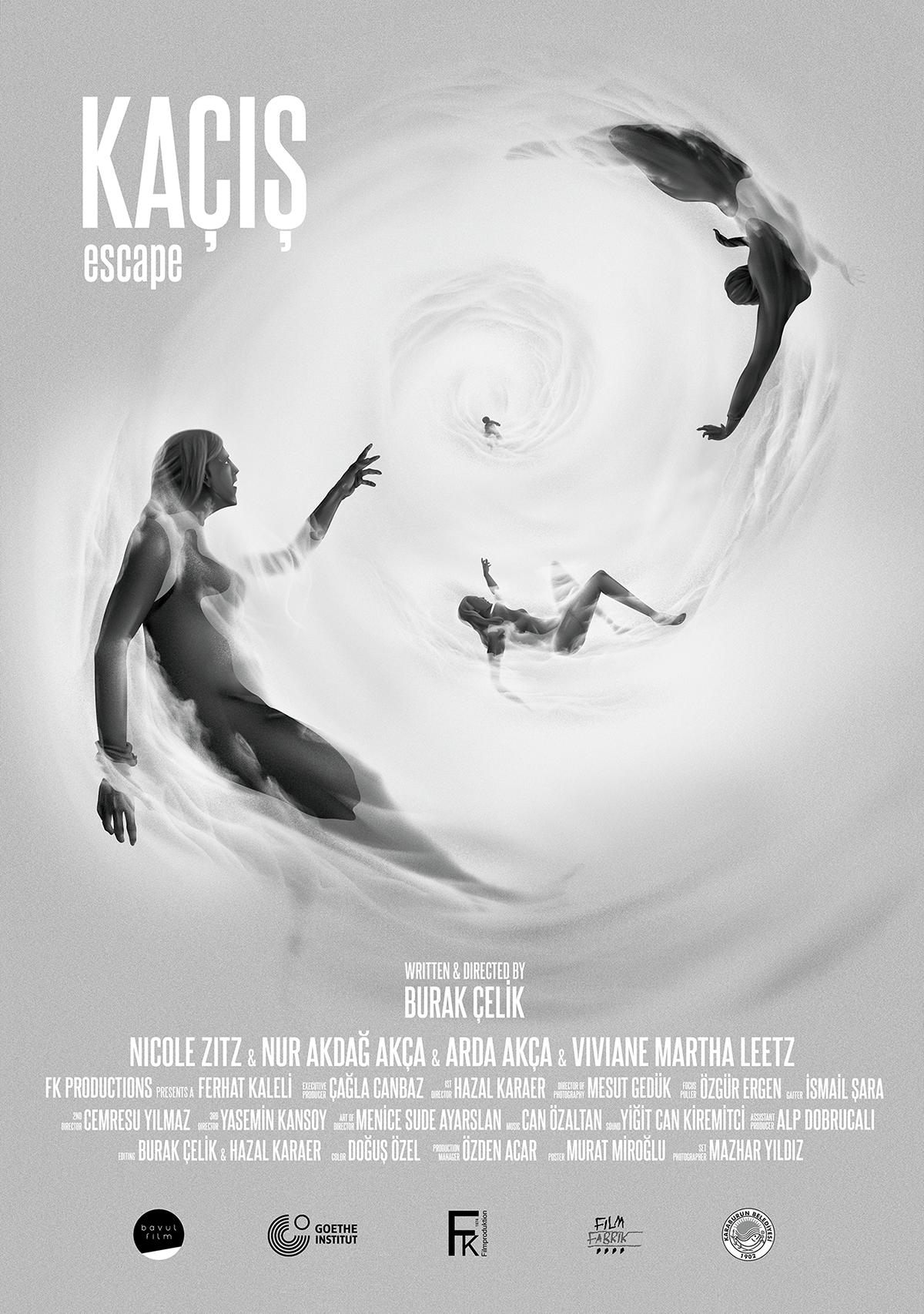 Kaçış/Escape is an award winning short film. Poster illustration: Murat Miroğlu