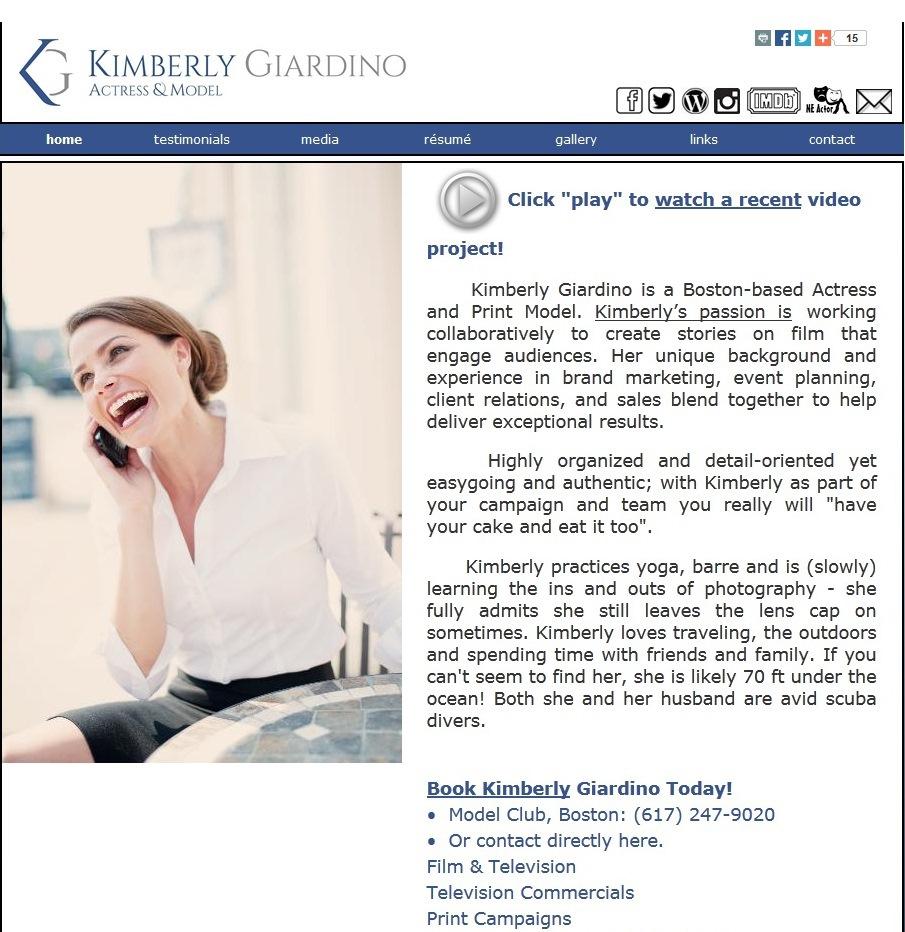 kimberly giardino actress model logo on behance thank you