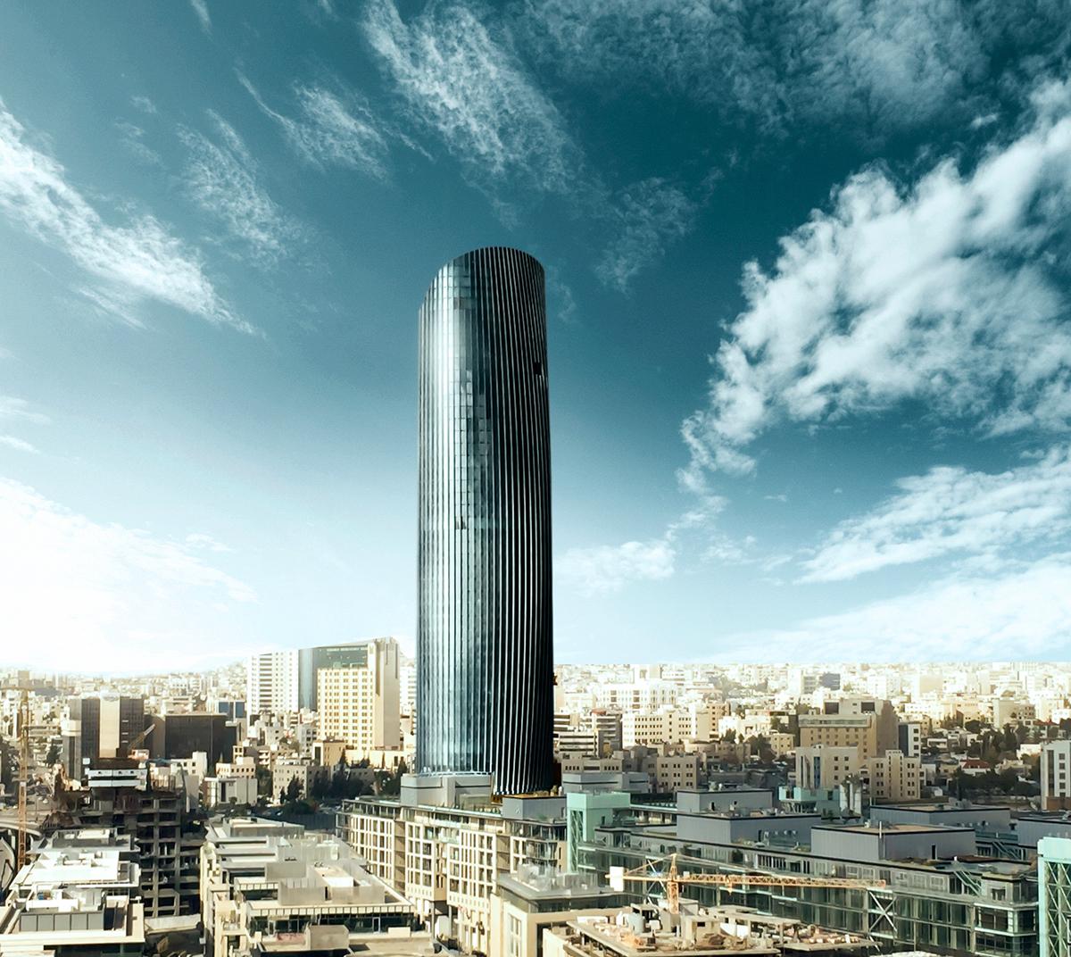 rotana tower 3D achi jordan amman Y&R