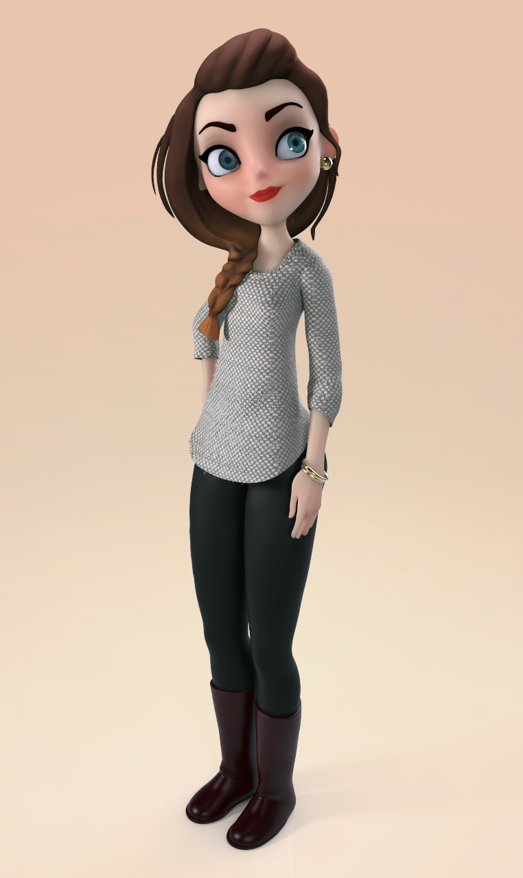 3d Character Design Behance : D cartoon girl on behance