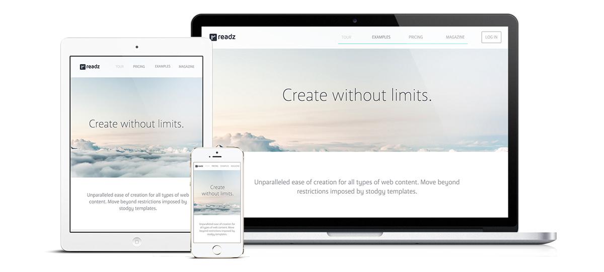 Readz Website Design website animation video background