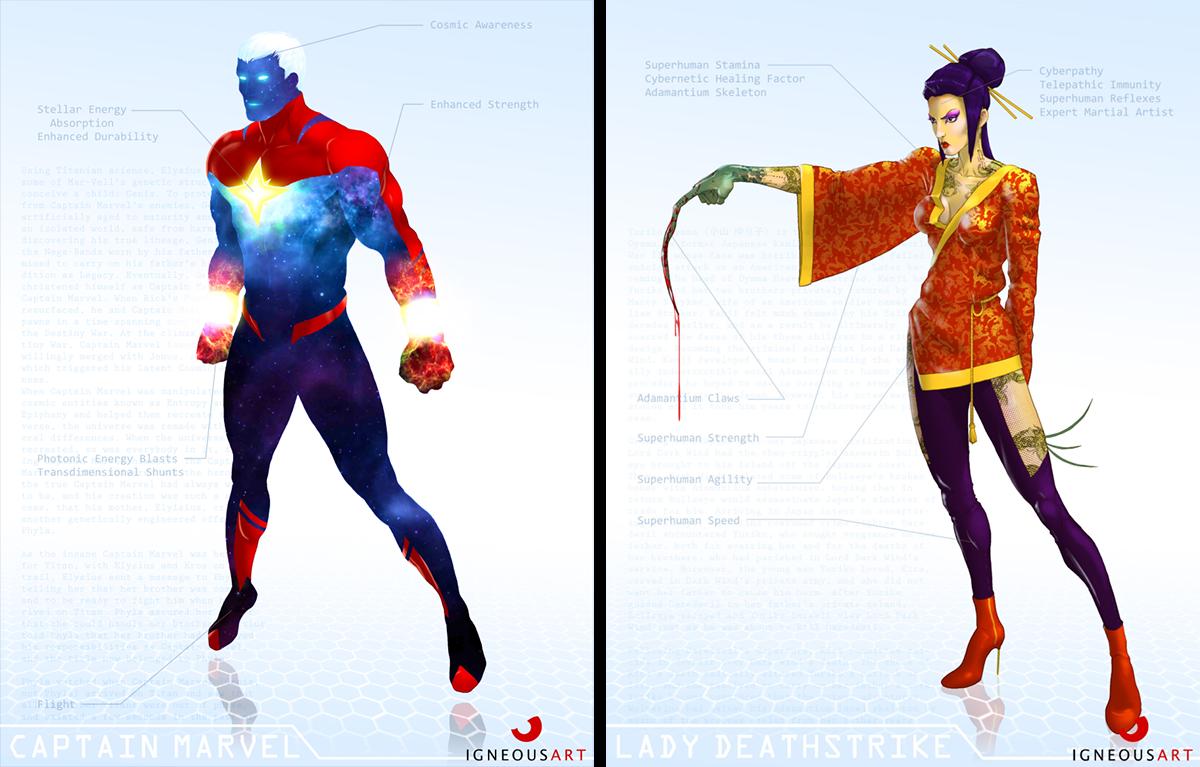 Marvel Character Design Behance : Marvel remix on behance