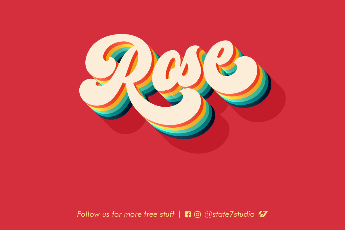 FREE | Rose Text Effect on Behance