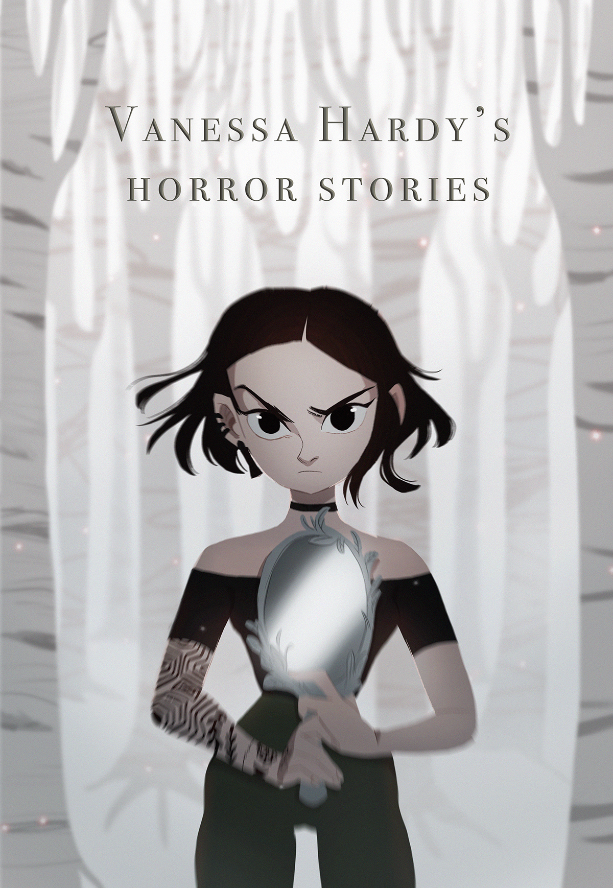 horror story Graphic Novel color key witch Modern Witch haunted house 2D design Visual Development