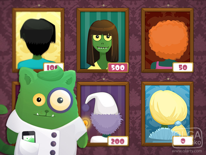 Game Art iPad iphone game Cat slot cake planet zombie underwater Icon bottle pirate Circus